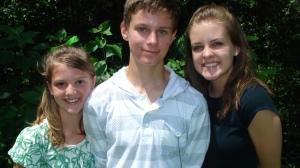 3 kids at memorial park