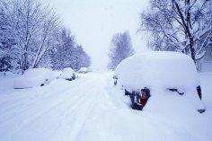 Winter Snow Storm Dumps Snow
